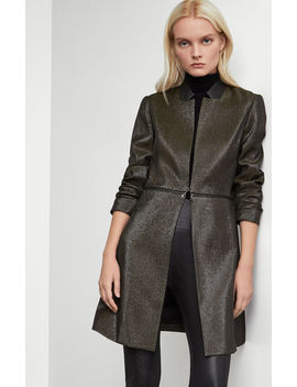 Pleather Trim Convertible Coat by Bcbgmaxazria