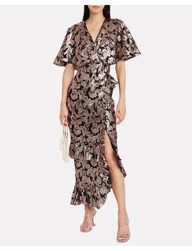 Rose Lamé Chiffon Dress Rose Lamé Chiffon Dress by Saloni Saloni