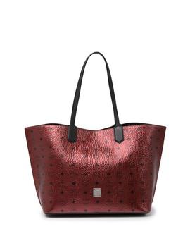 Medium Spot Visetos Leather Shopper by Mcm