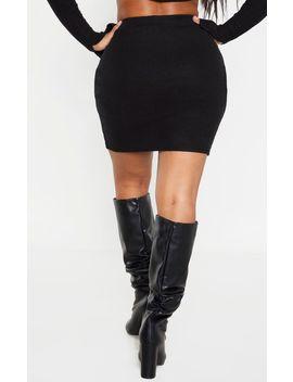 Shape Black Brushed Rib Bodycon Skirt by Prettylittlething