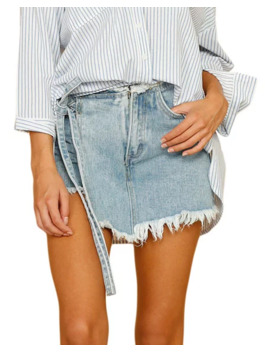 Style Keepers Ship Wrecked Distressed Wrap Skort by Style Keepers