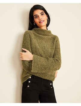 Boucle Flare Sleeve Cozy Sweater by Ann Taylor