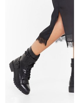 Make Your Own Buck Le Faux Leather Biker Boots by Nasty Gal