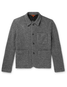 Virgin Wool Blend Bouclé Overshirt by Barena
