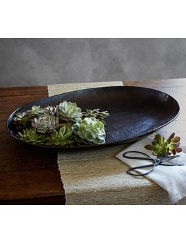 Metal Charger Candle Tray by Pottery Barn