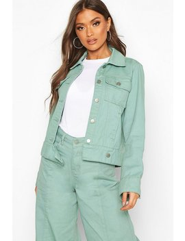 Denim Trucker Jacket by Boohoo