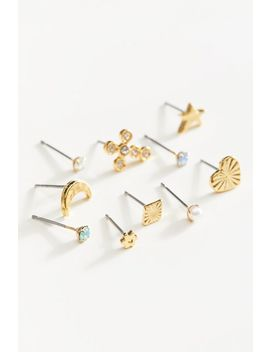 Mini Icon Mismatch Post Earring Set by Urban Outfitters