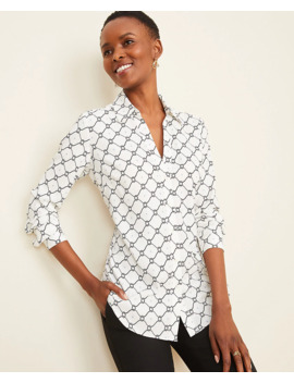 Petite Roped Link Essential Shirt by Ann Taylor