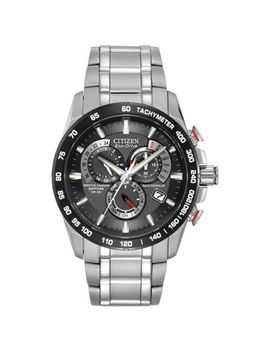Citizen Eco Drive Men's A T Chronograph Black Dial 42mm Watch At4008 51 E by Citizen