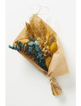 Dried Ochre And Eucalyptus Bouquet by Anthropologie
