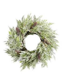 "24"" Snowy Berry Cedar & Pinecone Wreath by Pier1 Imports"