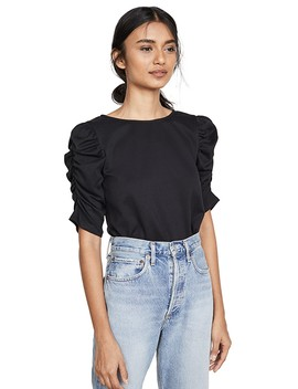 Morena Knit Ruched Top by Line & Dot