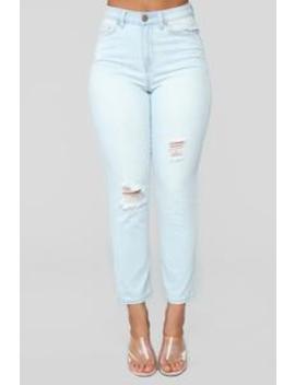 Summer Nights High Rise Distressed Jeans   Light Blue Wash by Fashion Nova