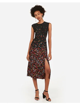 Fitted Front Slit Midi Dress by Express