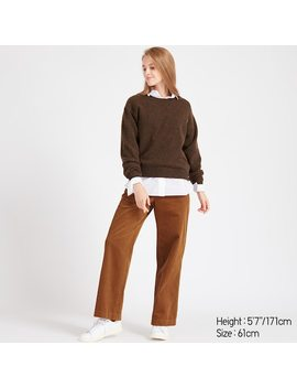 Women Corduroy High Waisted Wide Leg Trousers (7) by Uniqlo