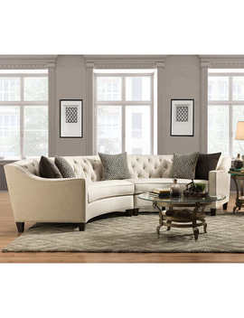 Barlow Curved Fabric Sectional by Pulaski Furniture