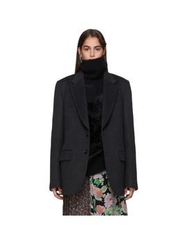 Grey Wool Blazer by Junya Watanabe