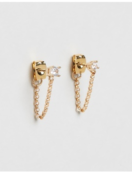The Lila Stud & Chain Earrings by Vanessa Mooney
