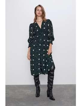 Textured Polka Dot Dress by Zara
