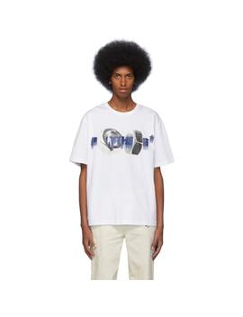White Bolt Print T Shirt by Polythene* Optics