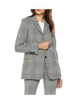 $655 Nwt Theory Oversized Wool Plaid Cardinal Jacket Blazer Size 8 by Ebay Seller
