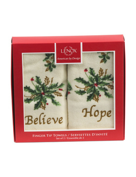 Believe & Hope Boxed 2pc Tip Towel Set by Tj Maxx