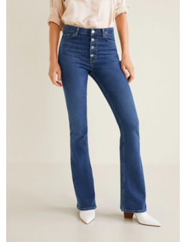 High Waist Flare Jeans by Mango