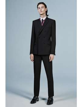 Textured Wool Blend Suit Pants by Zara