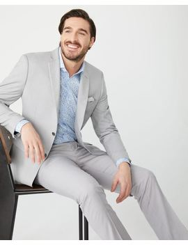 Essential Tailored Fit Light Heather Grey Suit Blazer by Rw & Co