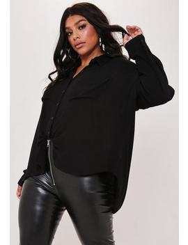 Plus Size Black Safari Shirt by Missguided