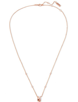 Move Romane 18 Karat Rose Gold Diamond Necklace by Messika