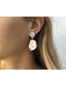 Orphic Pearl Earrings, Pearl Drop Earrings, Baroque Pearl Earrings, Wedding Earrings, Bridal Earrings, Big Pearl Earrings by Etsy