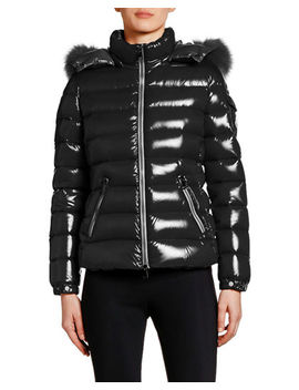 Bady Puffer Jacket W/ Fur Trim Hood by Moncler