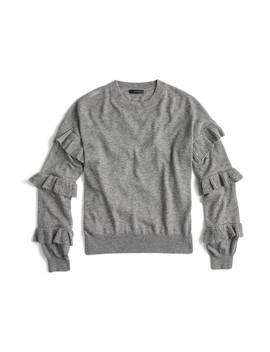 J.Crew Ruffle Sleeve Sweater by J. Crew