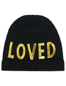 Black Loved Sequin Embellished Hat by Gucci
