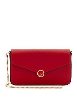 F Calf Crossbody Pouch Bag by Fendi