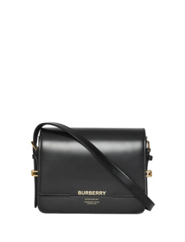 Horse Ferry Smooth Shoulder Bag by Burberry