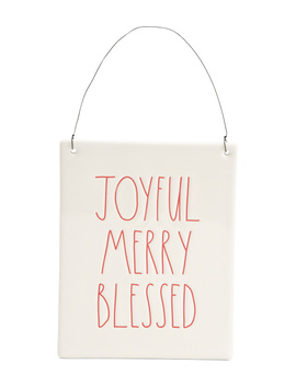 Joyful Merry Blessed Wall Plaque by Tj Maxx