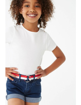 Girls Cuffed Denim Shorts (Kids) by Forever 21