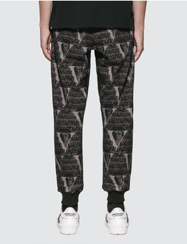 Valentino X Undercover Allover V Face Pants by Undercover