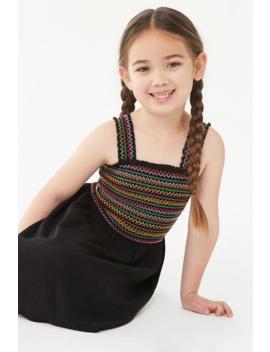 Girls Smocked Dress (Kids) by Forever 21
