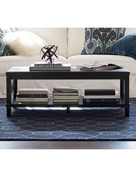 Cassie Coffee Table, Black by Pottery Barn