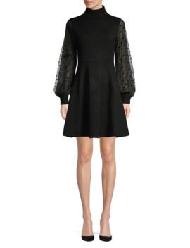 turtleneck-fit-&-flare-sweater-dress by eliza-j