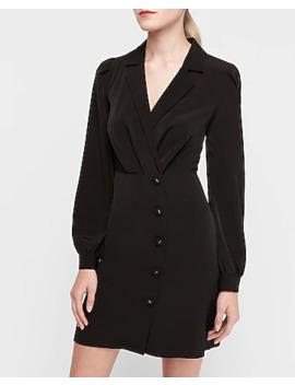 Asymmetrical Button Blazer Sheath Dress by Express
