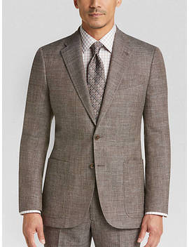 Joseph Abboud Limited Edition Brown Tic Slim Fit Suit by Joseph Abboud Limited Edition