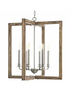 Huxley 6 Light Square/Rectangle Chandelier by Birch Lane