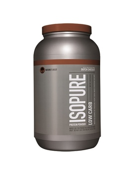 Nature's Best, Iso Pure, Low Carb Protein Powder, Dutch Chocolate, 3 Lb (1361 G) by Nature's Best, Iso Pure