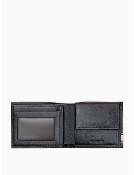 Saffiano Leather Logo Stripe Aviator Wallet by Calvin Klein