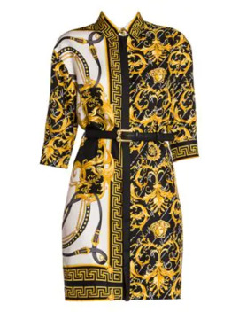 Rodeo Queen Printed Shirtdress by Versace
