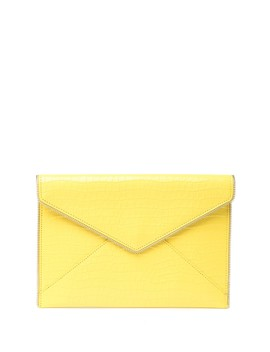 Leo Croc Embossed Leather Envelope Clutch by Rebecca Minkoff